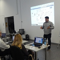 Dmitry Orekhov, Software Engineering Team Leader at EPAM Systems, conducting the workshop